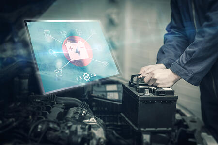 Engineering interface against mechanic changing car battery-1