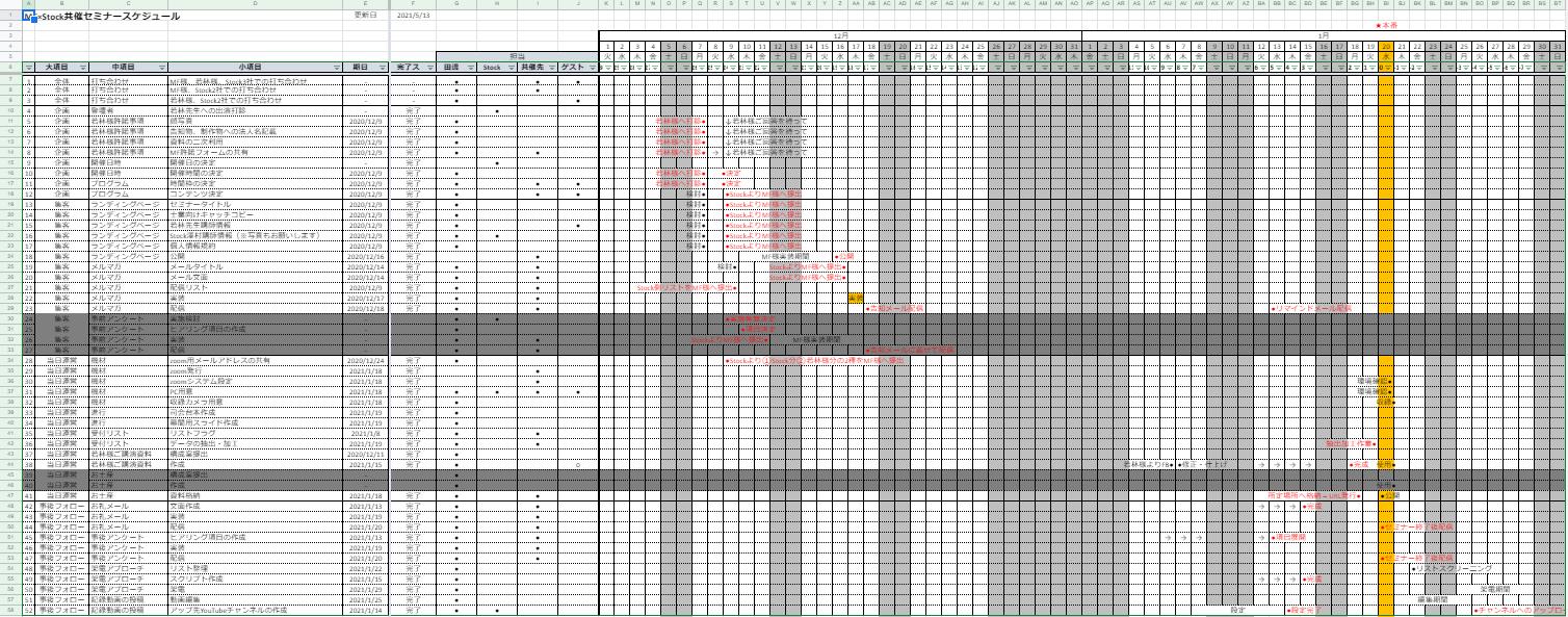 FireShot Capture 869 - MF×Stock共催セミナー工程表 - Google スプレッドシート - docs.google.com